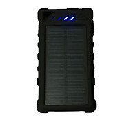 Ismartdigi MPSB-12000 2USB-048 21LED 12000mAh Solar Recharger Power Bank with LED Camping Lamp Flashlight for Cell Phone