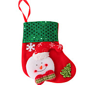 Sequined Snowman Socks 1 Pair