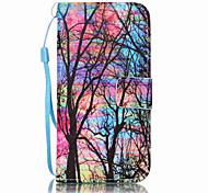 Для Кошелек / Бумажник для карт / со стендом / Флип / Рельефный / С узором Кейс для Чехол Кейс для дерево Твердый Искусственная кожа Apple