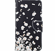 For iPhone 7 Case / iPhone 6 Case / iPhone 5 Case Card Holder / with Stand / Flip / Pattern Case Full Body Case Flower Hard PU Leather