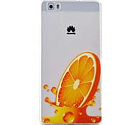 laranja padrão caso material de proteção TPU telefone para Huawei Huawei y5 honra ii 5a y6 ii p9 Lite p8 Lite