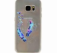 Für samsung galaxy s7 kante s7 eforcase federn malen tpu telefonkoffer samsung galaxy s7 s5 s5 mini