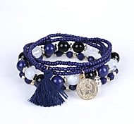 The New European Fashion Diamond BEADS BEADED BRACELET BRACELET MULTI Tassel Coin Factory Direct Christmas Gifts