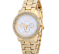 Women's Casual Fashion Quartz Watch Personality Simple Diamond Round Alloy Dial Watch Cool Watch Unique Watches