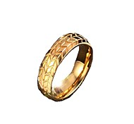 Band Rings Jewelry Stainless Steel Fashion Golden Jewelry Daily Casual Christmas Gifts 1pc