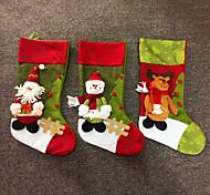 держатели большой моды рождественские подарки ткани носка мешки украшения дерево олень Санта снеговик фон рождественские чулки подарок