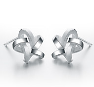 SILVERAGE 925 Sterling Silver Weaved Star Stud Earrings