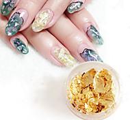 quatre couleurs combinaison ongles papier clinquant ultra-mince feuille couleur or 4pcs / set