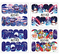 12pcs Nail Art Sticker Adesivi 3D unghie makeup Cosmetic Nail Art Design