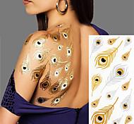 2 Tatuagem Adesiva Séries de Jóias Non Toxic / Estampado / Hawaiian / Lombar / Flash / CasamentoBebê / Criança / Feminino / Masculino /