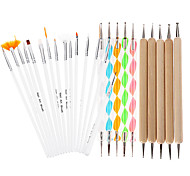25pcs поделки ногтей дизайн картины усеивание пера гвоздь рисунок собственного дизайна кисти маникюра расслоение набор набор инструментов