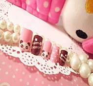 False Nail Products Manicure Patch Nail Nail Piece 24 PIECE Bear Cartoon Box