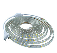 2M  220V Higt Bright LED Light Strip Flexible 5050 120Smd Three Crystal Waterproof Light Bar Garden Lights with EU Power Plug