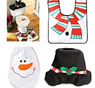 1 conjuntos de natal decorações de Natal tampa vaso sanitário e conjunto de tapete de banheiro boneco de tampas decorativas promoções