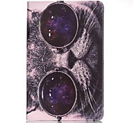 Per A portafoglio / Porta-carte di credito Custodia Integrale Custodia Gatto Resistente Similpelle Samsung Tab A 7.0