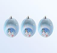 natale palla decorazione 3pcs colore blu