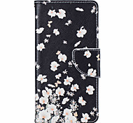 Small White Flowers Pattern Leather PU Leather Material Leather Phone Case for  Huawei P9 P9 Lite  Y5II  Y6II 5A