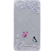 Butterfly Flower Pattern High Permeability TPU Material Phone Shell For Wiko Lenny 2 Lenny 3 Pulp Fab 4G