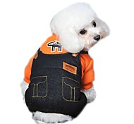 Dog Clothes/Jumpsuit Dog Clothes Winter Spring/Fall Jeans Cute Fashion Orange Yellow Rose