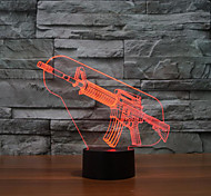 Gun Touch Dimming 3D LED Night Light 7Colorful Decoration Atmosphere Lamp Novelty Lighting Christmas Light