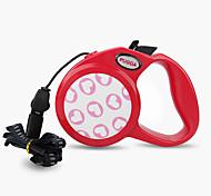 Dog Leash Adjustable/Retractable Cartoon Red / Black / Pink / Gray Nylon
