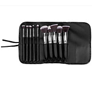 10 Makeup Brushes Set Nylon Portable Wood Face G.R.C