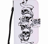 For Samsung Galaxy S7 edge S7 S6 edge S6 Case Cover Skull Painting PU Phone Case S5 S4 S3