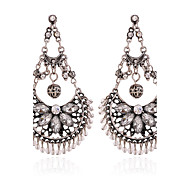 Earring Crystal Earring Back / Drop Earrings Jewelry Women Halloween / Party / Daily / Casual Crystal / Alloy 1 pairBlack / Silver /