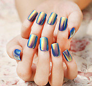 24Pcs Singular Shells Bright Color Fake Nails Patch Nail To Be Bestowed Favor On Newly 1Set