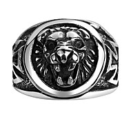 Men's Ring Jewelry European Steel Animal Shape Lion Jewelry For Wedding Party Daily Christmas Gifts