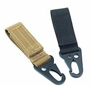 High Stength Nylon Carabiner Lock Military keychain Hook Webbing Molle Buckle Outdoor Handing Belt Clip Buckle 1pc