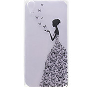 For Sony Xperia X Transparent Pattern Case Back Cover Case Sexy Lady Soft TPU Sony Xperia X