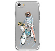 Bike Girl TPU Case For Iphone 7 7Plus 6S/6  6Plus/6S Plus