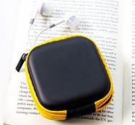 auriculares material de cuero de viaje monederos (color al azar)