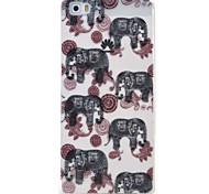 elefante padrão caso material de proteção TPU telefone para Huawei Huawei y5 honra ii 5a y6 ii p9 Lite p8 Lite