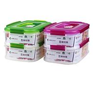 microondas portátil selado recipiente plástico lunch recipiente set (1.6l * 2p)