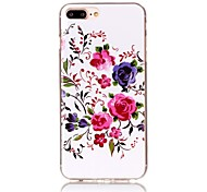 Chinese Rose Pattern HD Painted TPU Material Phone Shell For iPhone 7 7 Plus 6s 6 Plus
