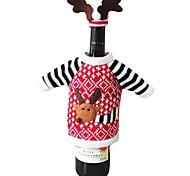 Рождественский олень стиль лосей бутылка красного вина шампанского покрывает мешок на новый год рождественские украшения украшения