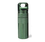 Pill Case Camping/Travel/Outdoor Waterproof/Convenient/Durable Aluminium Alloy CNC Storage EDC Seal Canister Survival Emergency Container