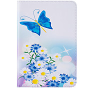 PU Leather Material Dielianhua Embossed Pattern Flat Protective Cover for iPad Mini 123 4