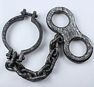 1шт Хэллоуин реквизита заключенные цепь ноги ручную цепь