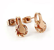 Fashion CZ Stone Inlaid 316L Stainless Steel Stud Earring