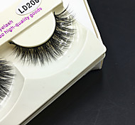 1 pair Eyelashes lash Full Strip Lashes Eyes Thick Volumized Handmade Animal wool eyelash Black Band 0.10mm 12mm