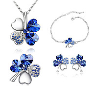 Thousands of colors  Jewelry Necklaces / Earrings / Bracelets & Bangles Jewelry set Crystal 1set Women -4301