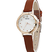 Women's Fashion Quartz Casual Watch Small Cute Leather Belt Round Alloy Dial Watch Cool Watch Unique Watch Strap Watch