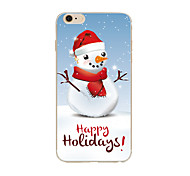 Christmas Snowman TPU Soft Case Cover For Apple iPhone 7 7 plus iPhone 6 6 Plus iPhone 5 5C  iPhone 4