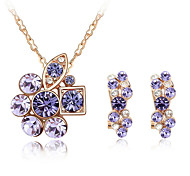 Thousands of colors Jewelry Necklaces / Earrings Jewelry set Crystal Fashion Daily 1set Women -9-1-1-377-2-139