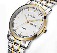 LONGBO Men's Dress Watch Quartz Water Resistant  Alloy Band Black / Gold Brand