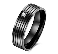 TGR160  Stylish New Listing Classic Style 316L Stainless Steel Titanium Black Gun Plated Men's Ring