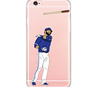 iPhone 7 7Plus Cartoon Sports Stars TPU Ultra-thin Translucent Soft Back Cover for  iPhone 6s 6 Plus 5s 5 5E